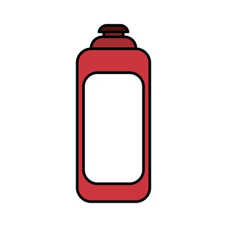 Hair cream icon. Hair salon supply utensil and barbershop theme. Isolated design. Vector illustration
