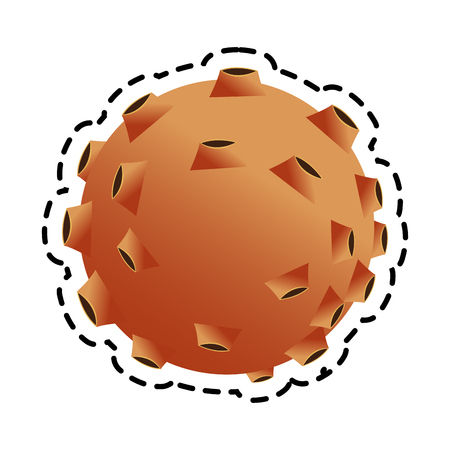 asteroid: Asteroid icon. Space science orbiting and exploration theme. Isolated design. Vector illustration