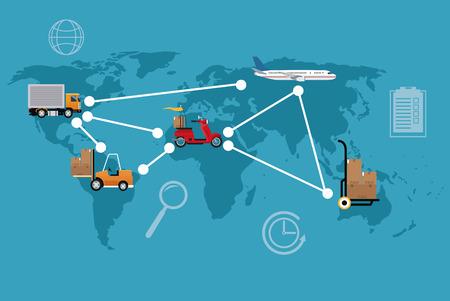 delivery concept different transport international vector illustration eps 10