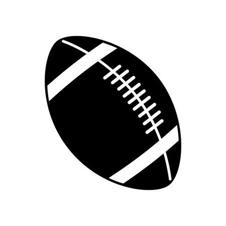 footbal: Ball icon. American football sport competition and game theme. Vector illustration