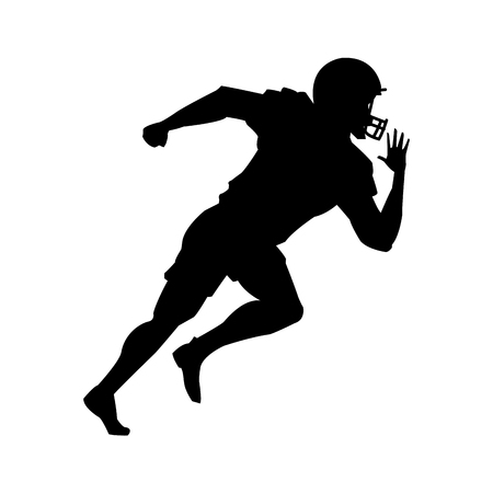footbal: Player icon. American football sport competition and game theme. Vector illustration Illustration