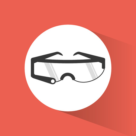 glasses smart wearable technology shadow vector illustration eps 10
