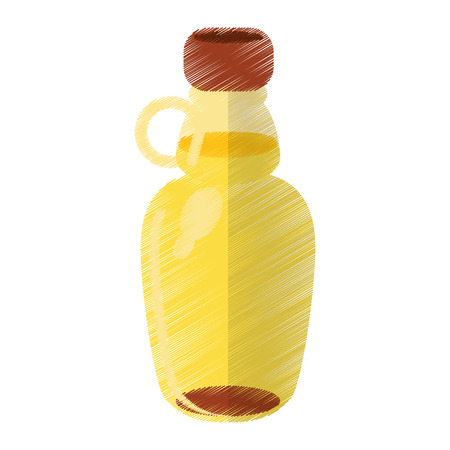colored maple syrup bottle traditional vector illustration eps 10