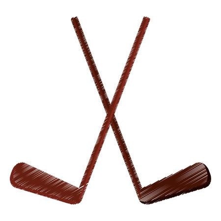 puck: colored hockey game stick vector illustration eps 10 Illustration
