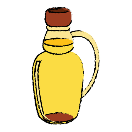 maple syrup bottle traditional sketch vector illustration eps 10 Illustration