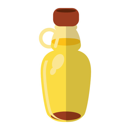 maple syrup bottle traditional vector illustration eps 10 Illustration
