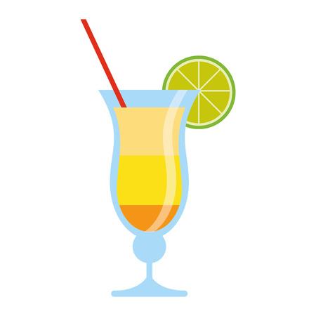 cocktail drink traditional brazil vector illustration eps 10