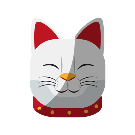 Cat icon. China cultura asia chinese theme. Isolated design. Vector illustration