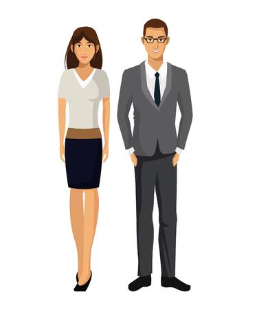 l'illustrazione l'ENV 10 di vettore del supporto del lavoro del gruppo di affari della donna e dell'uomo