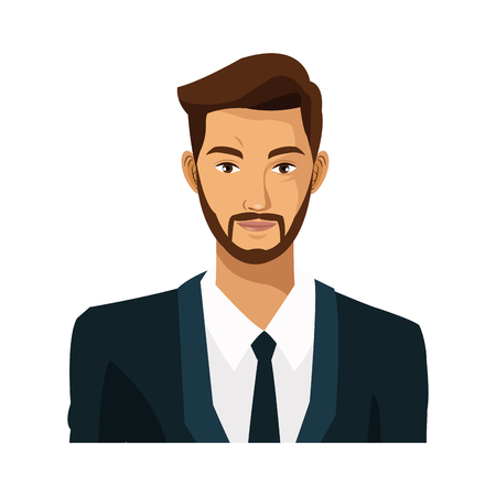 wealthy lifestyle: businessman bearded work leadership vector illustration eps 10 Illustration