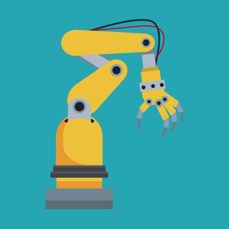 hand tool: industrial robot hand tool vector illustration eps 10