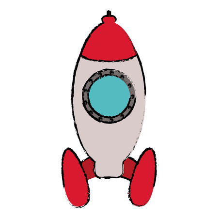 rocket startup launching sketch vector illustration eps 10