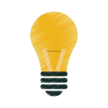 drawing bulb idea intelligence light vector illustration eps 10 Illustration
