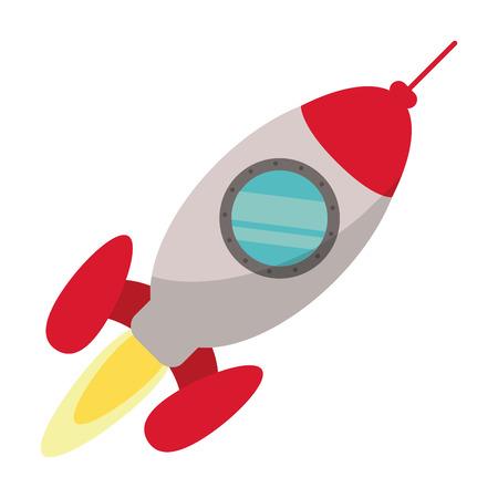 rocket startup launching vector illustration eps 10 Illustration