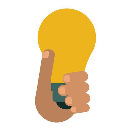 holds: hand holds bulb idea innovation creative design vector illustration eps 10