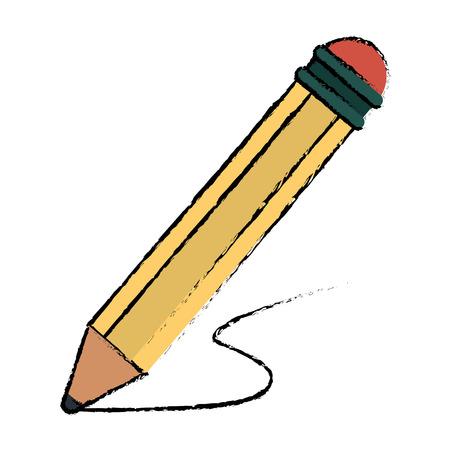 writing instruments: pencil writing utensil wood sketch vector illustration eps 10 Illustration