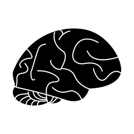 silhouette human brain idea creativity vector illustration eps 10 Stock Vector - 66968630
