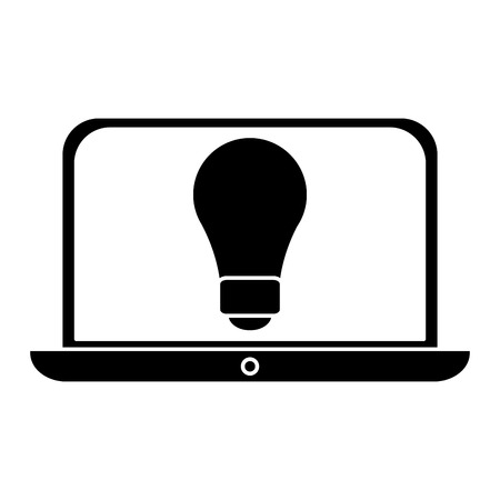 laptop silhouette: silhouette idea laptop technology vector illustration eps 10
