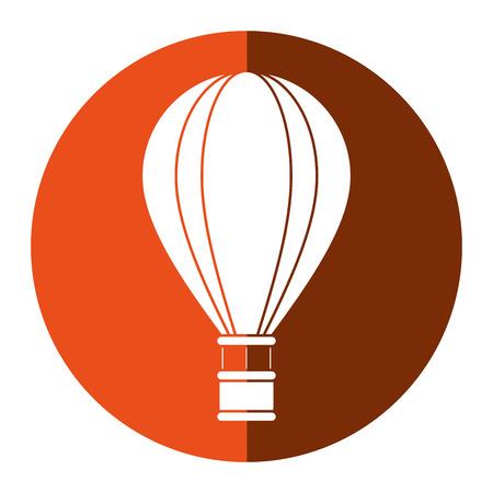 airballoon travel recreation adventure orange circle vector illustration eps 10