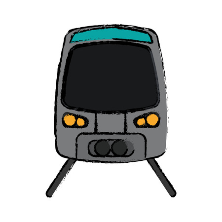 high speed: gray high speed train passenger rail road sketch vector illustration eps 10