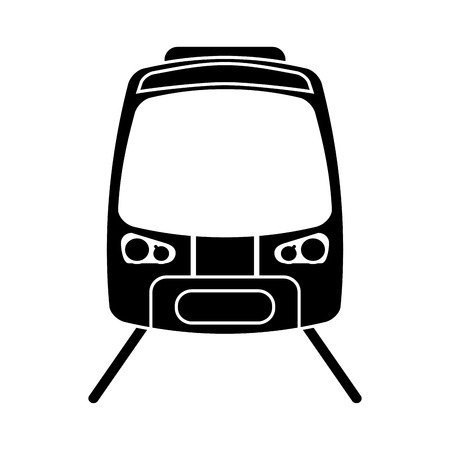 high speed rail: silhouette high speed train passenger rail road vector illustration eps 10 Illustration