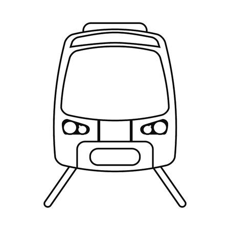 high speed rail: high speed train passenger rail road outline vector illustration eps 10