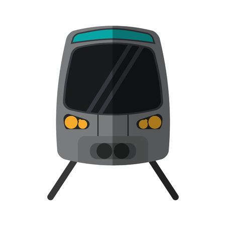 high speed rail: high speed train passenger rail road vector illustration eps 10