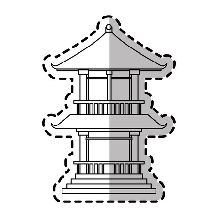 Tower icon. China cultura asia chinese theme. Isolated design. Vector illustration