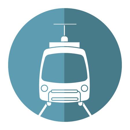 tram travel public transport urban vector illustration eps 10 Illustration