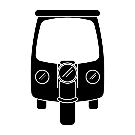 silhouette motor rickshaw transport tricycle vector illustration eps 10