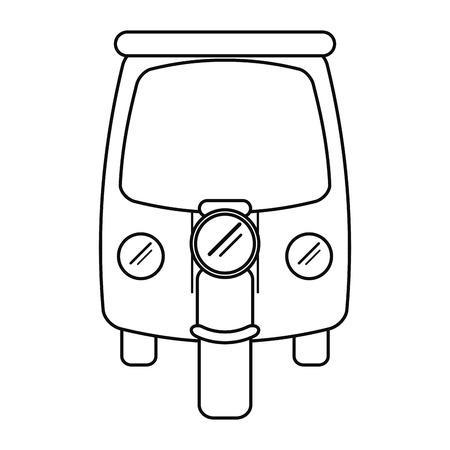 rikscha: Motor Rikscha-Dreirad Umriss Vektor-Illustration eps 10 Illustration