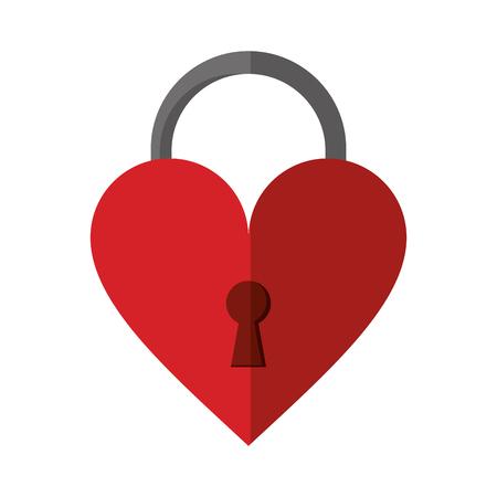 padlock shaped heart loved vector illustration eps 10 Illustration