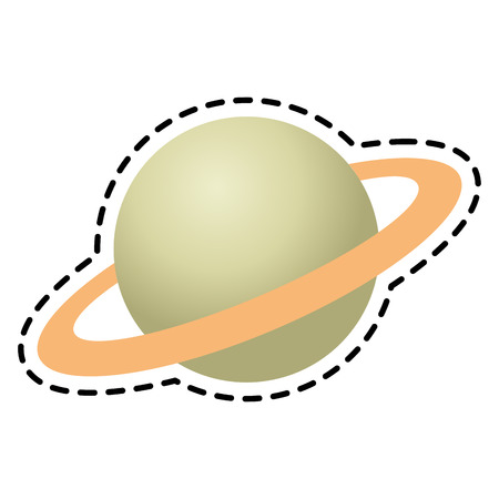 Planet icon. Space science orbiting and exploration theme. Isolated design. Vector illustration Illustration