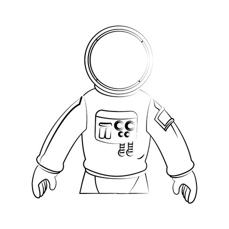 astral: Astronaut icon. Spaceman cosmonaut pilot space and science theme. Isolated design. Vector illustration