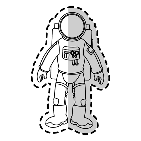 spaceman: Astronaut icon. Spaceman cosmonaut pilot space and science theme. Isolated design. Vector illustration