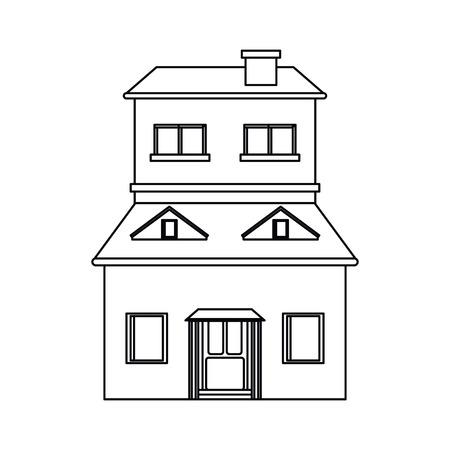 cartoon family house exterior concept vector illustration eps 10