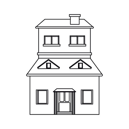 cartoon family house exterior concept vector illustration eps 10