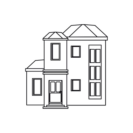 house urban expensive outline vector illustration eps 10