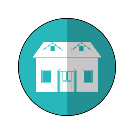 dormer: house facade loft circle vector illustration eps 10