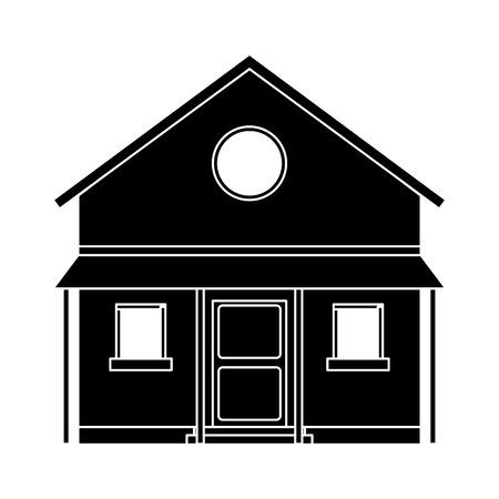 familiy: familiy house countryside pictogram vector illustration eps 10 Illustration