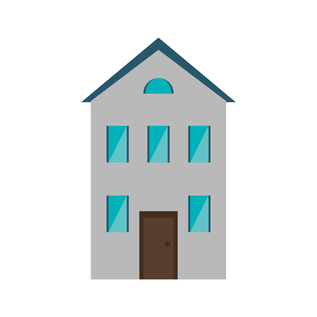 suburbia: real state house new two floor vector illustration eps 10