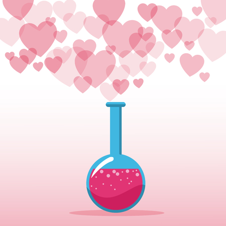 potion: love potion valentines day hearts background