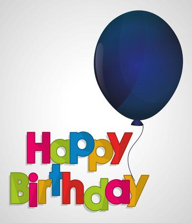 ed: happy birthday ed letter blue balloon vector illustration