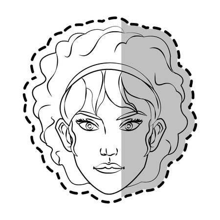 Woman cartoon icon. Girl female avatar person people and human theme. Isolated design. Vector illustration Illustration