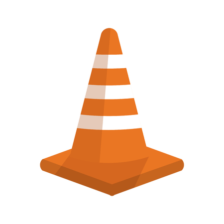 traffic pole: Traffic cone icon. Road sign street information and way theme. Isolated design. Vector illustration