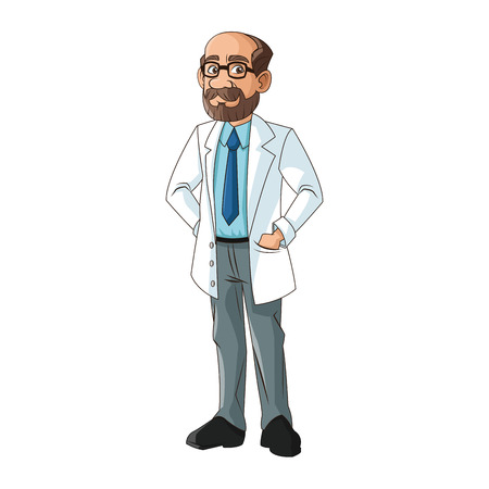 Doctor cartoon icon. Medical health care hospital and emergency theme. Isolated design. Vector illustration