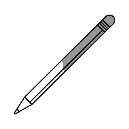 secretarial: Pencil icon. Tool write office object and instrument theme. Isolated design. Vector illustration Illustration