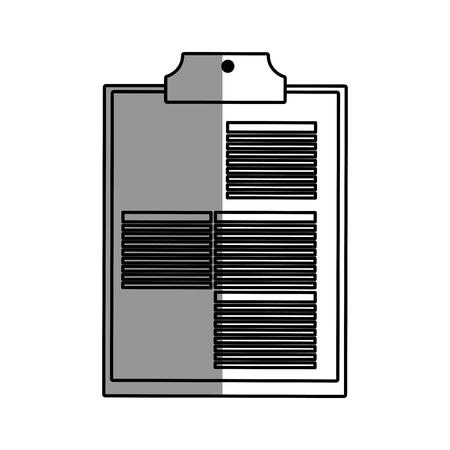 historia clinica: icono de la historia. hospital de atención médica y de salud es el tema de emergencia. diseño aislado. ilustración vectorial