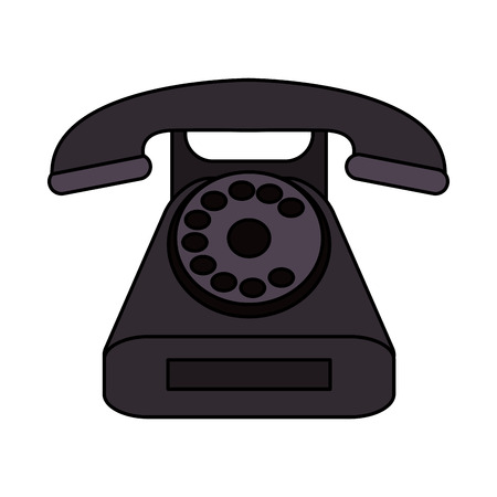 Phone icon. Device call telephone communication and contact theme. Isolated design. Vector illustration