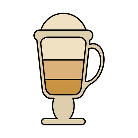 Coffee glass icon. Drink breakfast beverage and restaurant theme. Isolated design. Vector illustration